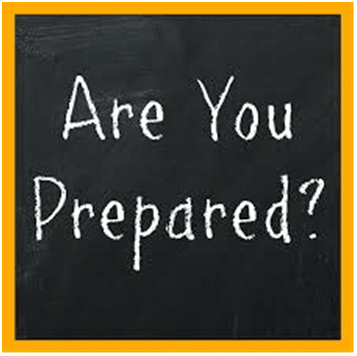 Are your prepared?